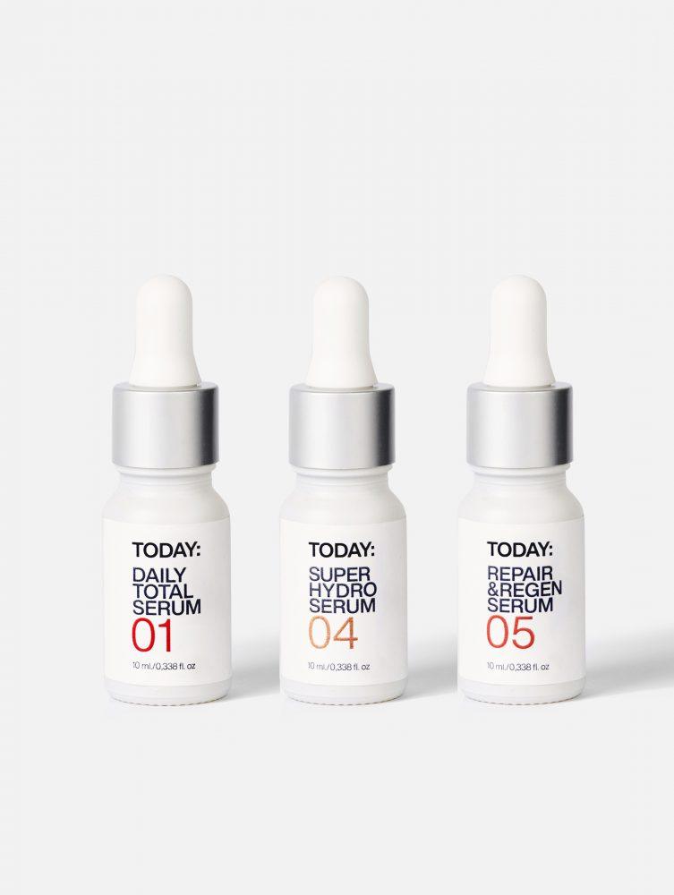 Pack rutina triple serum antiedad, hidratante y regenerador natural vegano